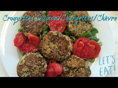recette-croquettes-quinoa/chèvre/courgette