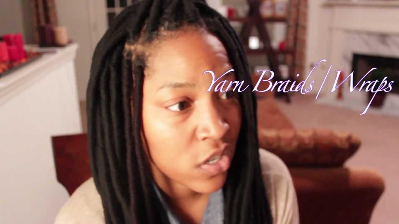 How To Yarn Braids Wraps Youtube