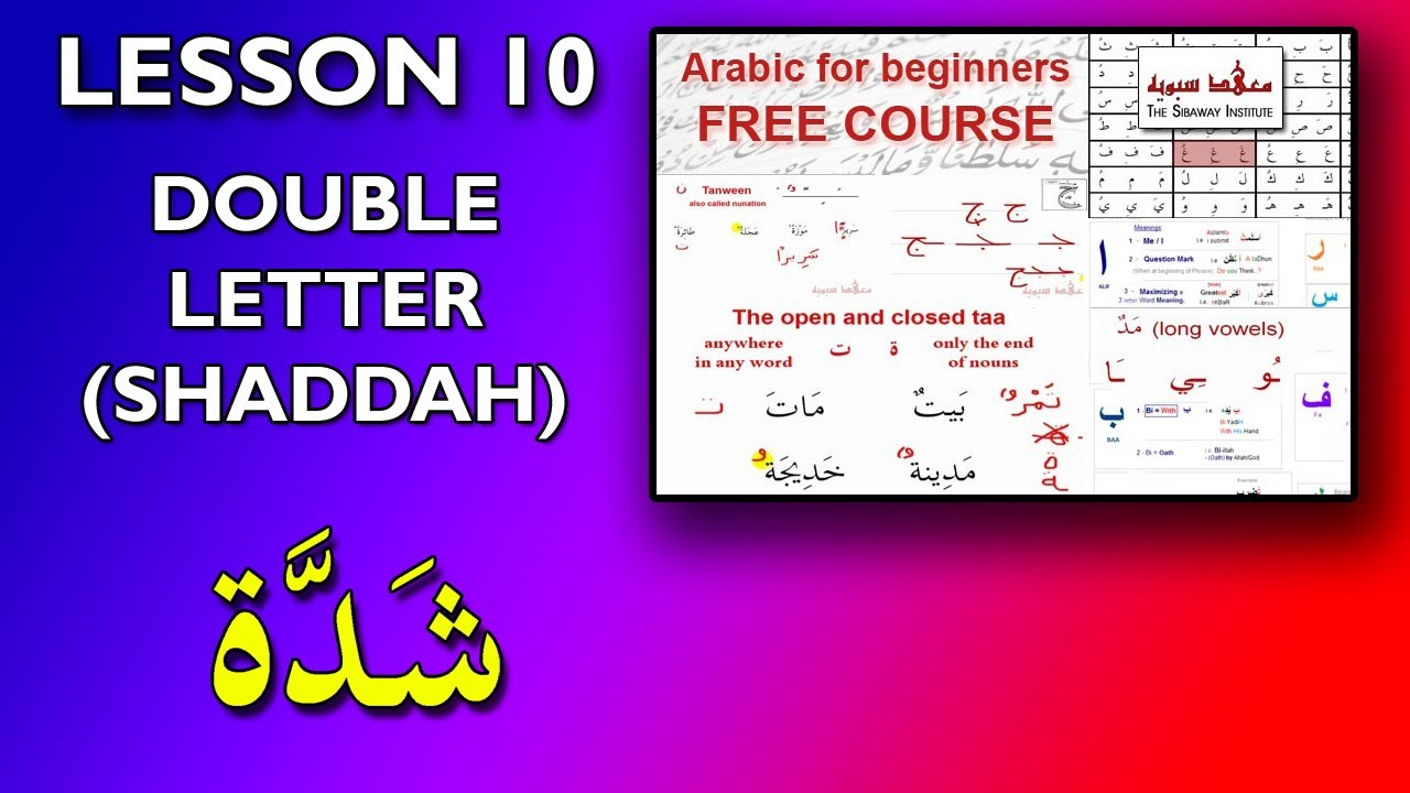 Arabic For Beginners Lesson 10