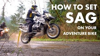 How to ADJUST SAG - Works on All Bikes - Adventure Motorcycle Suspension Part 3