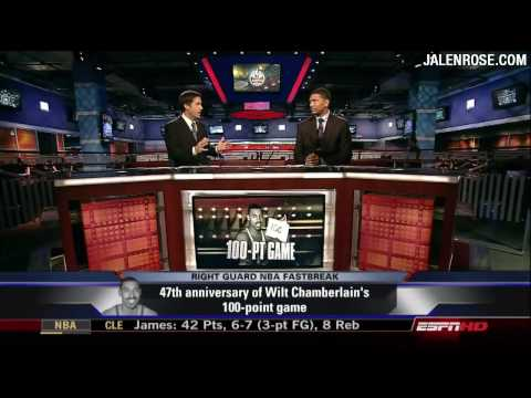 Wilt Chamberlain 100-Point Game - 47th Anniversary - Jalen Rose Comments