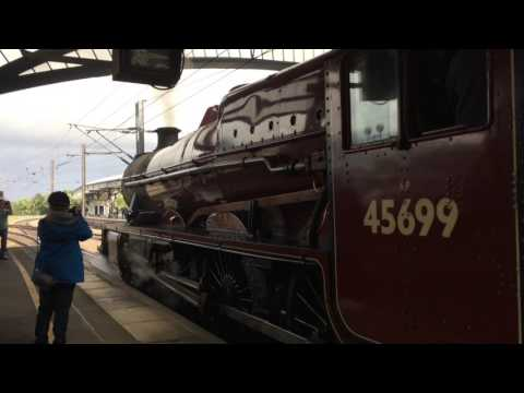 45699 'Galatea' at York working the 1Z25 'The Scarborough Spa express'
