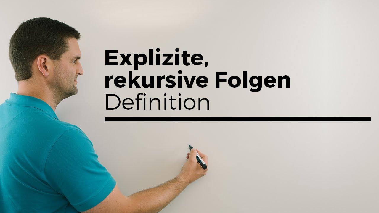 Download Explizite, rekursive Folgen, Definition, Beispiele | Mathe by Daniel Jung
