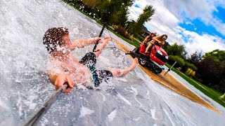 Lawn Mower Slip N Slide - Filmed on a Smartphone in 4K! | DEVINSUPERTRAMP