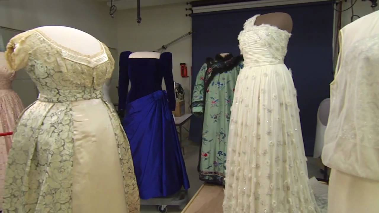 Preparing the gowns for the First Ladies Exhibition