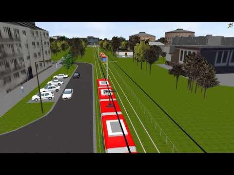 Wizualizacja trasy tramwajowej Wola-Wilanów, odcinek Kasprzaka-Krzyżanowskiego-Dw  Zachodni