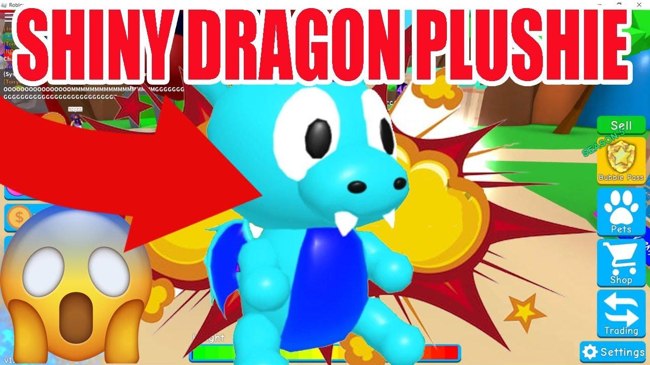 Shiny Dragon Plushie Bubble Gum Simulator And Clown Hat Youtube