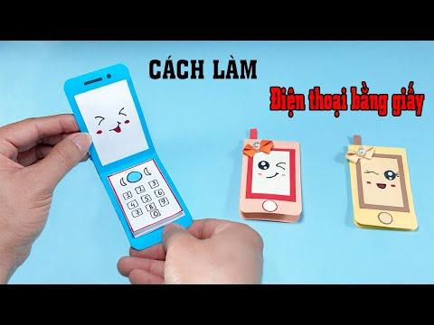 Cách Làm Điện Thoại Bằng Giấy / DIY cute Notepad Phone / Gấp Giấy Origami / Mĩ Thuật Sáng Tạo | Foci
