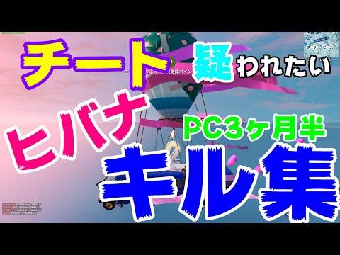 【ヒバナ】チート疑われたい人のキル集PC3ヶ月半2019.7【PC版フォートナイト】