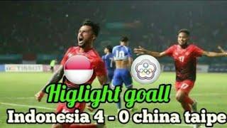 #ASIANGAMES2018 INDONESIA u-23 vs CHINA TAIPEI u-23 (4-0) HIGHLIGHT ASIAN GAMES 2018