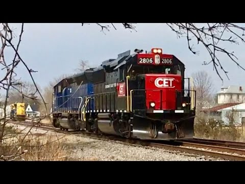 Rare CCET Locomotives Pull Long String Of Rail Cars Out Of Storage!  Ex Montana Rail Link! X-ARR