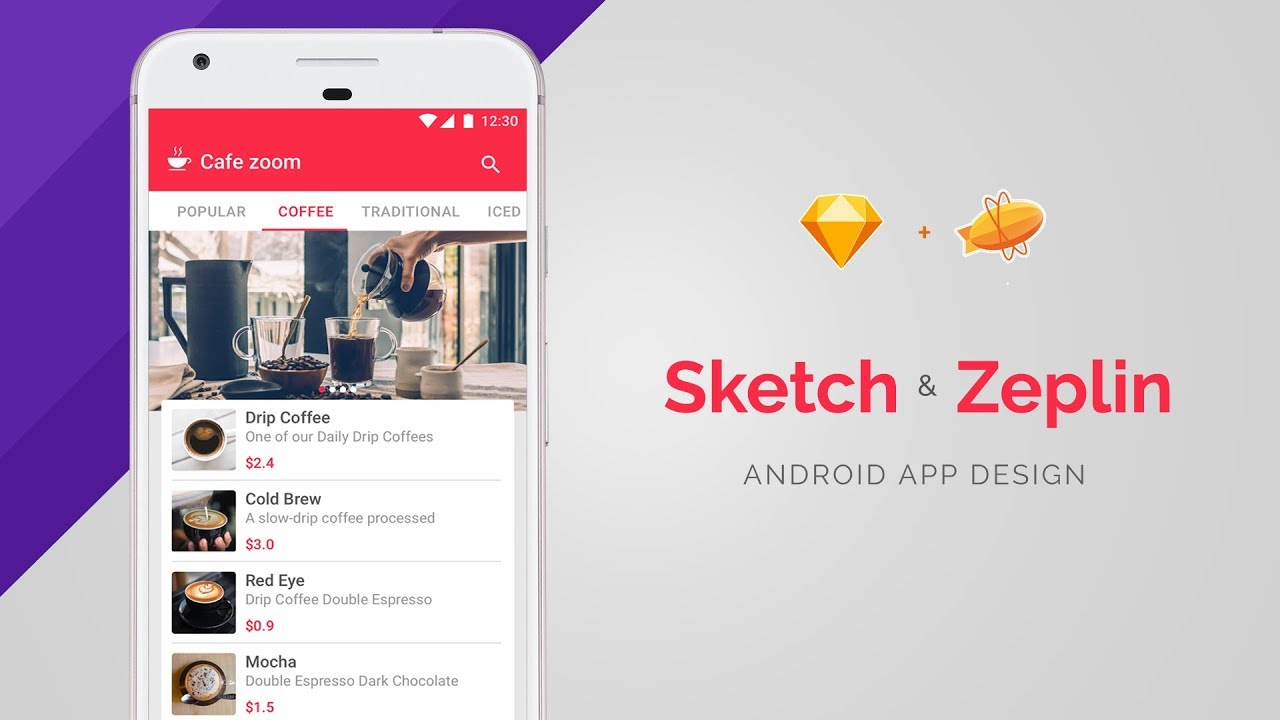 Android App UI Designing using Sketch and Zeplin
