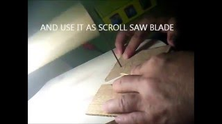 HOME MADE WOODEN SCROLL SAW