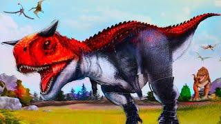Динозавр Карнотавр собираем Динозавры для детей | стикер пазлы с динозаврами | Danik and Lesha