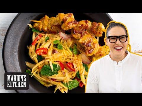 Thai Garlic & Pepper Chicken & Green Mango Salad Marion's Kitchen