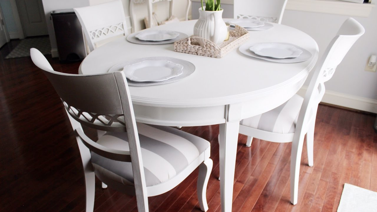 Tisch Lackieren Chalk Paint Kitchen Dining Table - Youtube