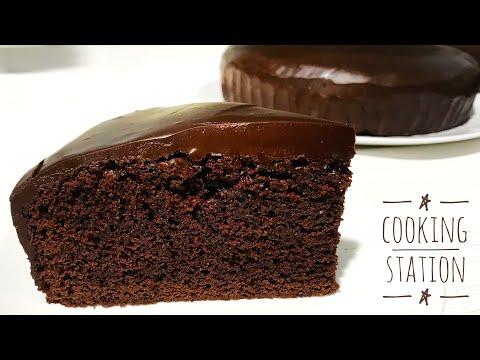 Chocolate Fudge Cake With Ganache Recipe | Cooking station
