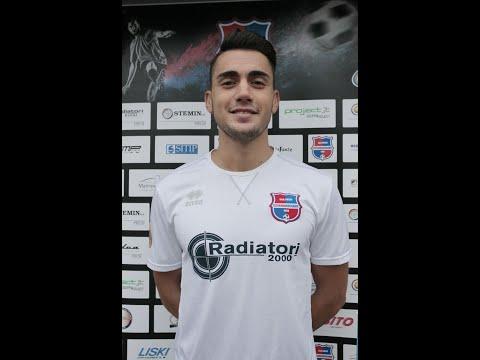 Il nuovo centrocampista Virtus Ciserano Bg Samuele Careccia