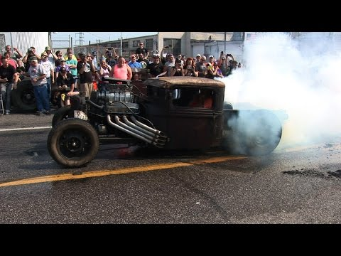 BLOWN Rat Rod BLOWS Tires !!! Shapiro Steelfest
