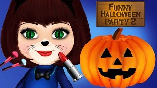 Fun Animal Kitten Care - Funny Halloween Pumpkin Costume Dress Up Makeup Makeover Kids App