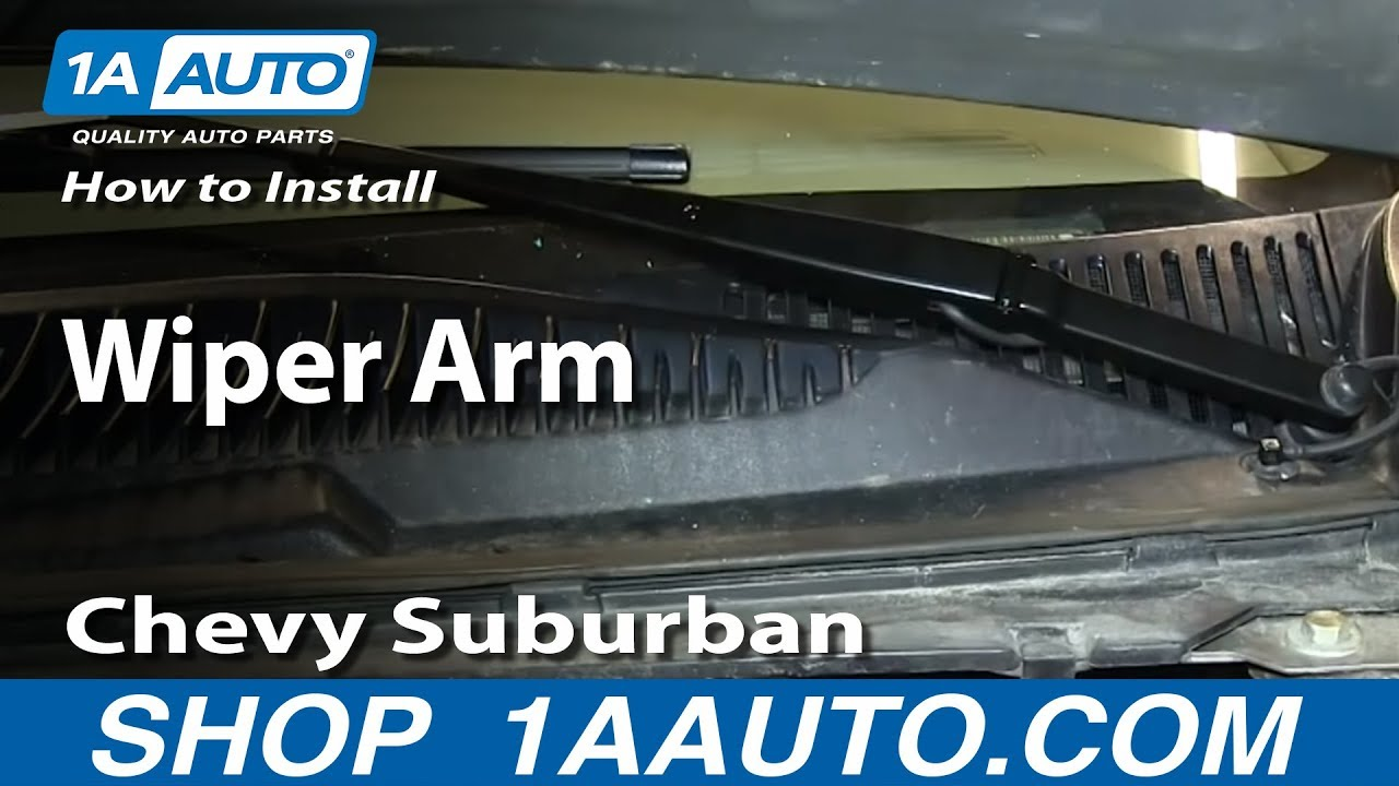How to install replace wiper arms 2000 02 chevy suburban and tahoe youtube