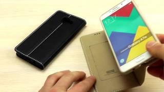 """ОБЗОР: Шикарный Кожаный Чехол-Книжка для Samsung Galaxy A7 (A710) 2016 года серия """"Noble"""" """"XUNDD"""""""