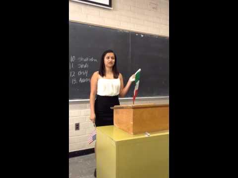 Cultural Artifact Speech: Mexican-American Culture