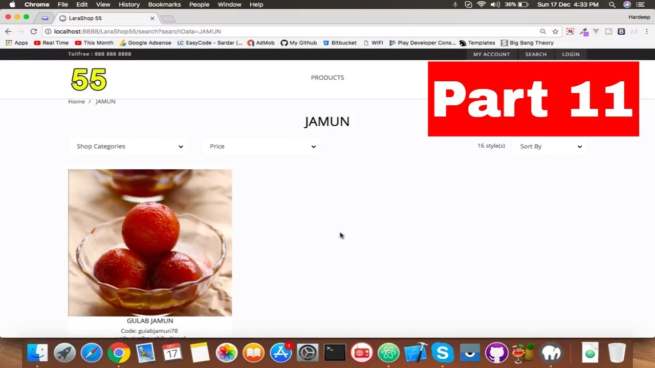 #11 Laravel Search Functionality | Product Search | E-commerce website in  Laravel 5 5