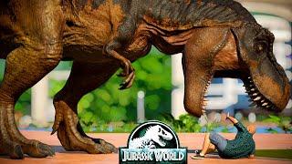 2 I-Rex Vs 2 T-Rex, 2 Spinosaurus, 2 Giganotosaurus, 2 Carcharodontosaurus - Dinosaurs Fighting