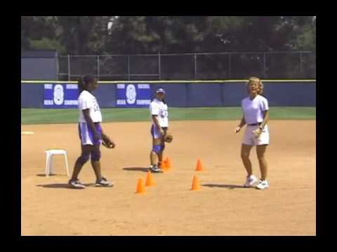 Softball Fielding Mechanics Drill: Stance W/ Glove Out In Front