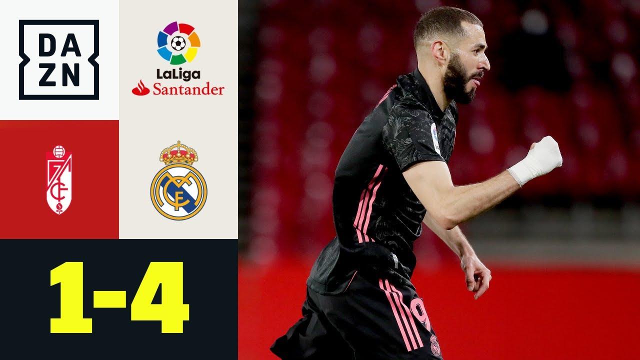Il Real tiene aperta LaLiga: Granada-Real Madrid 1-4 | LaLiga | DAZN Highlights