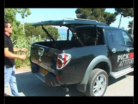 mitsubishi l200 2 accessoires couvre tonneau hard top. Black Bedroom Furniture Sets. Home Design Ideas