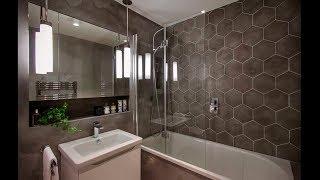 Шестиугольная черно-белая плитка для ванной