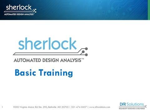 Sherlock Automated Design Analysis Basic Training