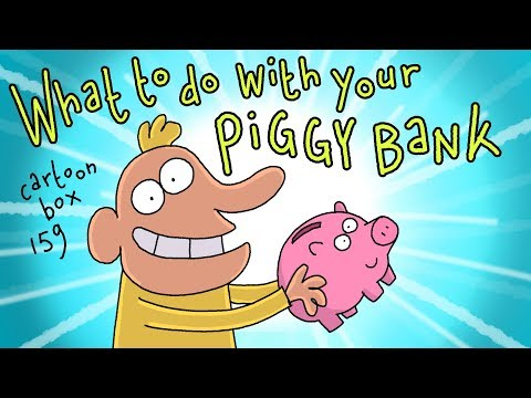 What To Do With Your Piggy Bank   Cartoon Box 159   By FRAME ORDER   Dark comedy cartoons
