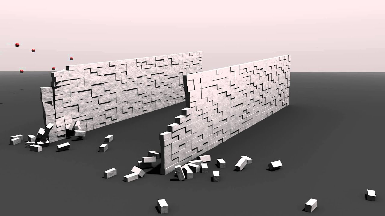 Crumbling wall.