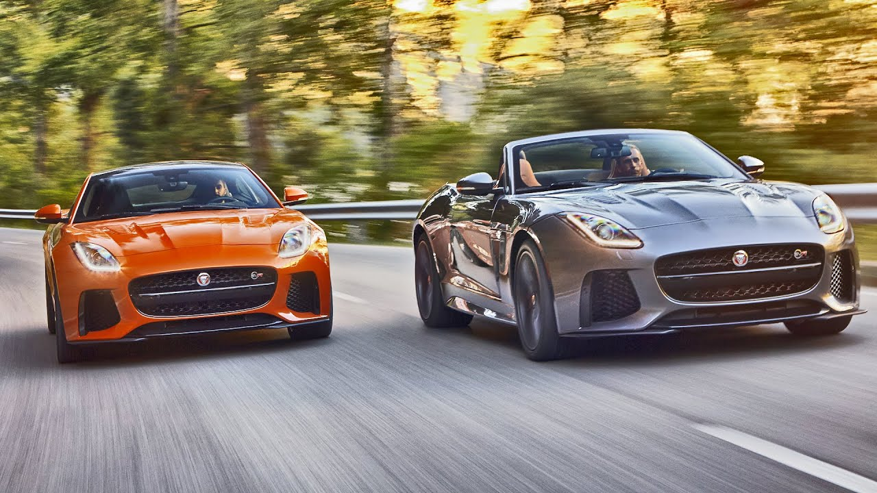 2017 Jaguar F Type Svr Convertible And Coupe 4k Official Trailer