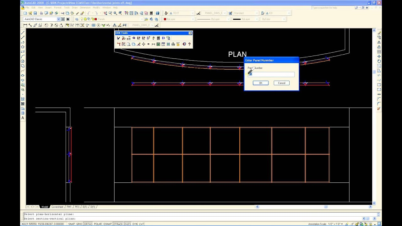 Stone Wall Elevation Cad : Acm software for autocad arc wall projection youtube