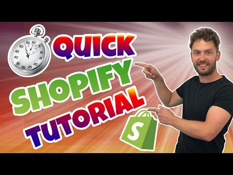 Quick Shopify Tutorial 2019 Step By Step Walkthrough For Beginners