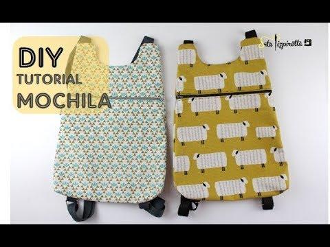 6317e9b21 DIY Tutorial Mochila Básica 1 con PATRONES GRATIS - YouTube
