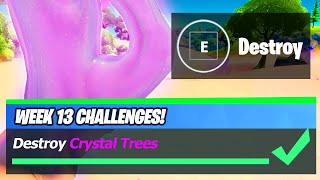 Crystal Trees LOCATIONS & Destroy Crystal Trees - Fortnite