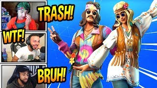 STREAMERS REACT TO 'NEW' DREAMFLOWER ' FAR OUT MAN SKINS! Moments Fortnite FUNNY
