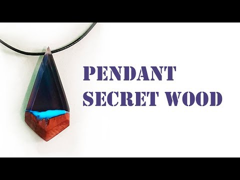 DIY. How to make a PENDANT. Secret wood. Resin jewelry. ideas for beautiful pendants