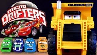 Watch Lightning Mcqueen eaten by Colossus Dump Truck Micro Drifters Cars 2 Disney Pixar