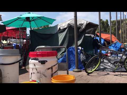 Flags Tent Tent City Santa Ana Civic Center