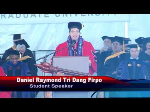 Claremont Graduate University Commencement 2016 - Excerpt from student speaker address