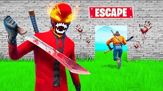 Trying To ESCAPE MOST DANGEROUS KILLER in FORTNITE!