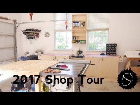 Shop Tour 2017   My Garage Woodshop!