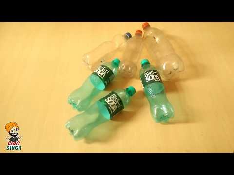 waste bottle craft    use of  waste Plastic bottle for home decoration    waste material craft
