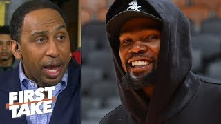 The Warriors' Game 2 Win Buys Kevin Durant More Time To Return - Stephen A. | First Take